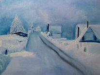 Landschaft, Bergstraße, Schnee, Winter
