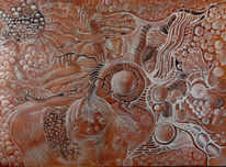 Weiß, Acrylmalerei, Ausstellung, Monster