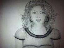 Portrait, Kohlezeichnung, Zeichnungen, Oktober
