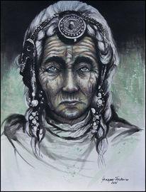 Portrait, Mutter, Stolz, Grün