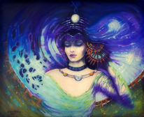 Symbolismus, Ewigkeit, Frau, Mond