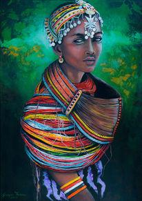 Portrait, Kultur, Ausdruck, Afrika