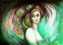 Malerei, Symbolismus, Gesicht, Terra