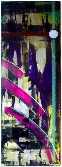 Schwungvoll, Abstrakt, Dunkel, Malerei