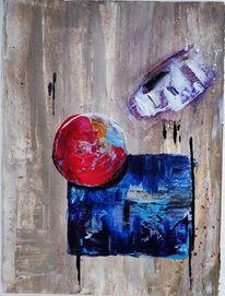 Quadrat, Ball, Gemälde, Natur
