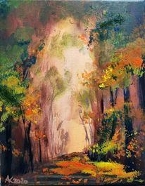 Herbst, Spaziergang, Laub, Baum