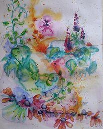 Garten, Grün, Sommer, Blüte