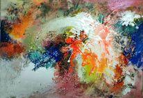 Collage, Neon, Spritzer, Landschaft