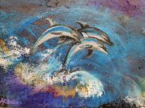Wasser, Ozean, Delfin, Schwimmen
