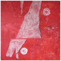 Rot schwarz, Abstrakt, Weiß, Malerei