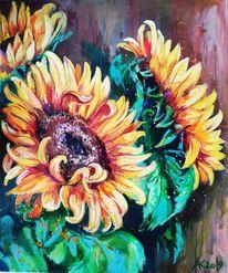 Sonnenblumen, Gelb, Sommer, Blumen