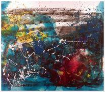Bunt, Acrylmalerei, Baum, Feuerwerk