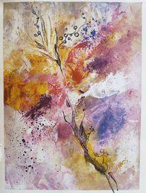 Blätter, Natur, Pink, Zukunft