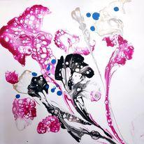 Rosa, Flüssig, Blumen, Weiß
