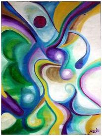 Welle, Farbflächen, Kringel, Abstrakte blumen