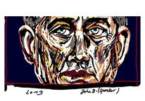 Politik, Mann, Gesicht, Digitale kunst