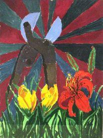 Blumen, Zange, Garten, Angst