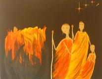 Feuer afrika, Malerei, Afrika