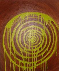 Chaos tanzende farben, Malerei, Chaos