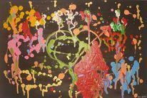 Psychedelia tanzende farben, Malerei