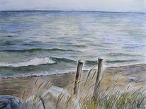 Meer, Stein, Wasser, Welle