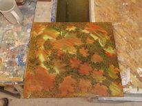 Herbst, Ahorn, Bunt, Malerei