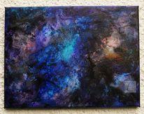 Der urknall, Abstrakt, Acrylmalerei, Malerei