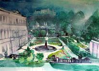 Salzburg, Garten, Mozartstadt, Österreich