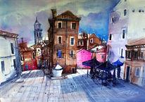 Venedig, Aquarell, Il