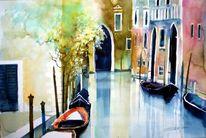 Aquarellmalerei, Venedig, Italien, Venezia