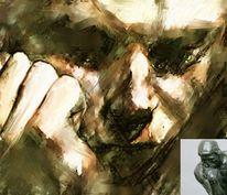 Portrait, Collage, Gesicht, Digitale kunst