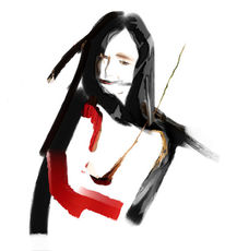 Gesicht, Frau, Portrait, Digitale kunst