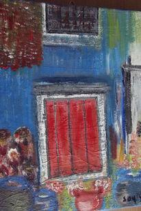 Tür, Haus, Malerei, Architektur