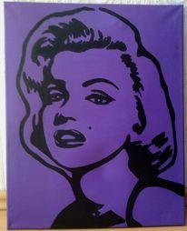 Acrylmalerei, Kontur, Silhouette, Illustration