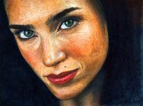 Portrait, Frau, Zeichnungen