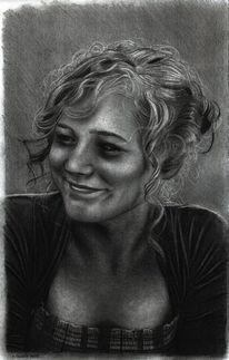 Portrait, Mädchen, Zeichnungen, Dame