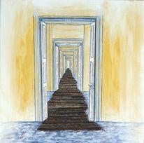 Holzweg, Zweideutig, Endloser holzweg, Malerei