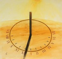 Sonne das leben, Sonnenurh, Lebensuhr, Malerei