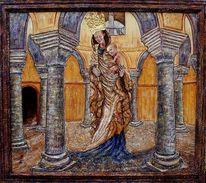 Maria mit jesus, Rotunde michaeliskirche fulda, Madonna, Malerei