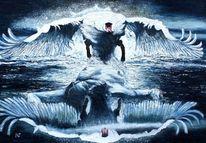 Griechische mythologie, Zeus verführt leda, Zeus als schwan, Verführung ledas