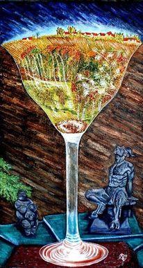 Muttererde, Venus von willendorf, Faun, Wein