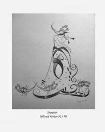 Fantasie, Malerei, Skorpion