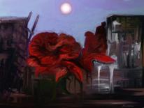 Fantasie, Rose, Dunkel, Leiter