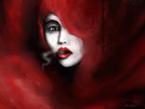 Fantasie, Frau, Dunkel, Ausdruck