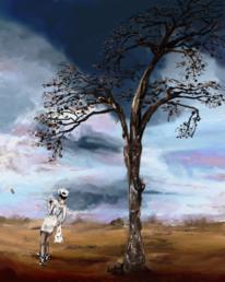 Spaziergang, Fantasie, Baum, Himmel