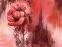 Rot, Blumen, Fantasie, Mohn
