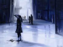 Erinnerung, Frau, Tagebuch, Blau