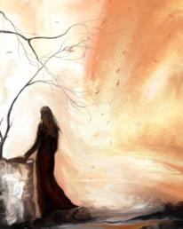 Fantasie, Licht, Frau, Digitale kunst