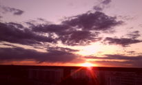 Rot, Sonnenuntergang, Berlin, Wolken