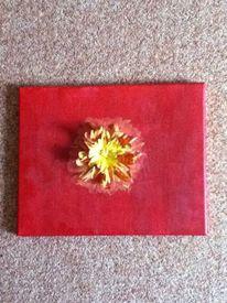 Gelb, Blüte, Rot, Malerei